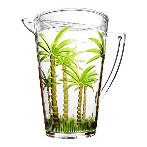 Quart Emboss Pitcher, Palm Tree
