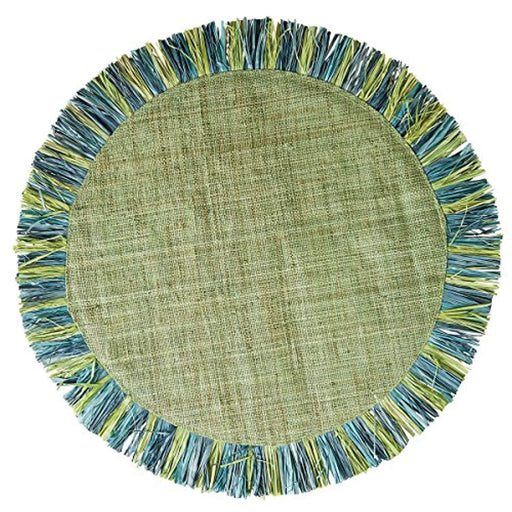 Blue/ Lime Fringe Placemat