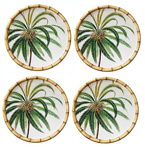 Bamboo Round 9 Inch Salad Plates set of 4
