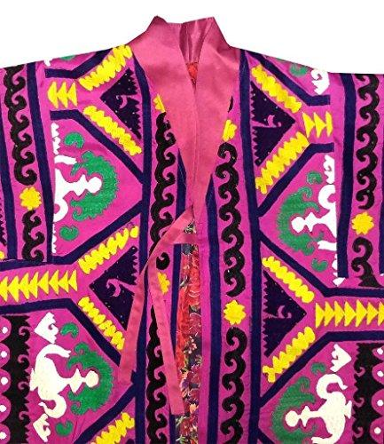 Vintage hand made embroidered Silk Robe Bukhara  A11482