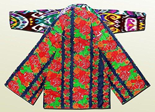 Vintage Uzbek Hand embroidered Silk and Cotton Caftan Sold