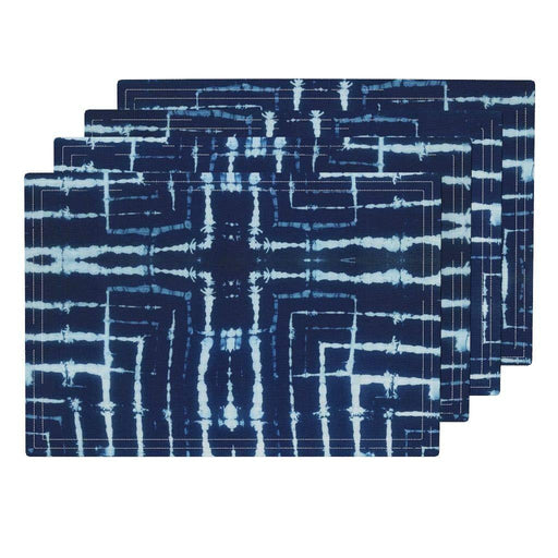 Blue Shibori Placemats Set of 4