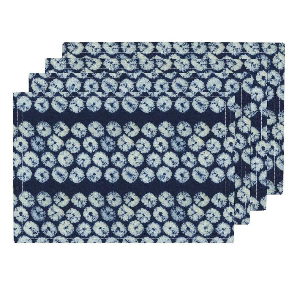 Shibori Spider Willow Eco Canvas Cloth Placemat Set