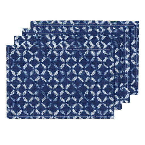 Shibori  Eco Canvas Cloth Placemat Set -