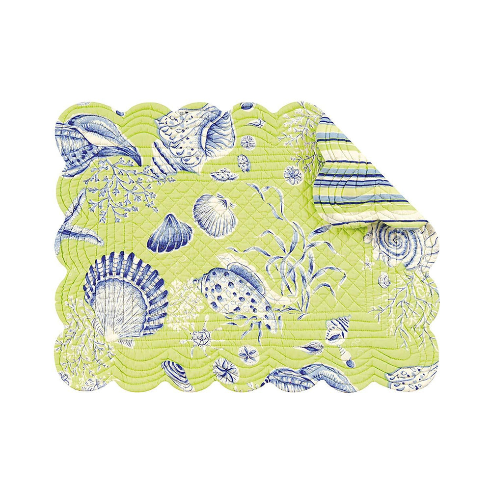 Sea Shell Reversible Placemats Set/4