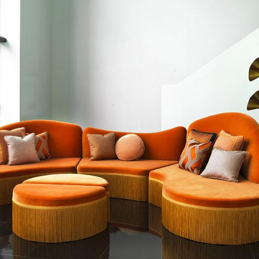 Orange 3-Piece Sectional Sofa Onde  #2