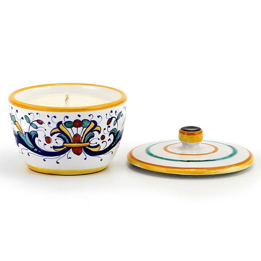 Jar Deruta Ceramic Candle with lid - Ricco Deruta Design
