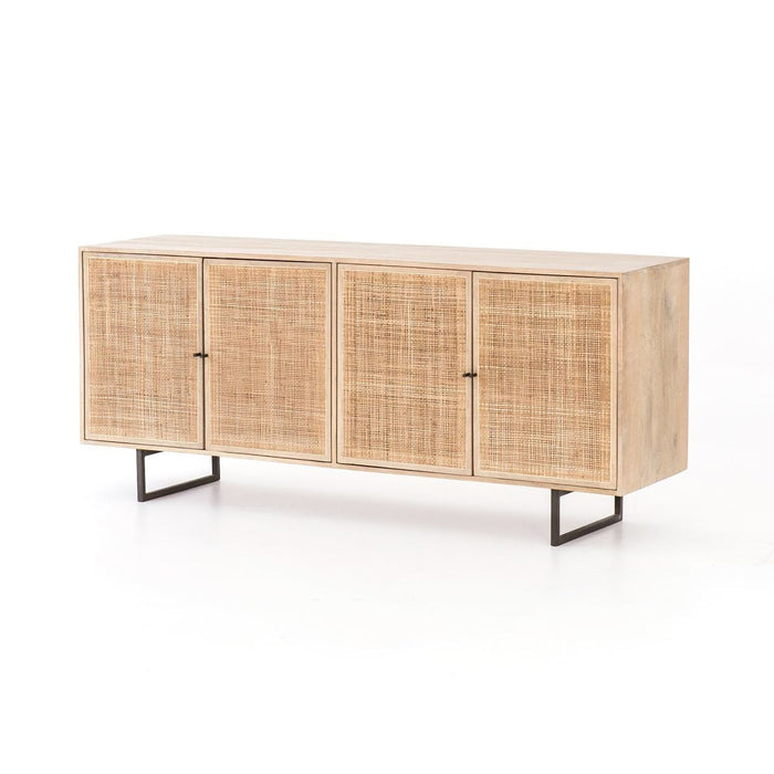 Mango wood and cane buffet