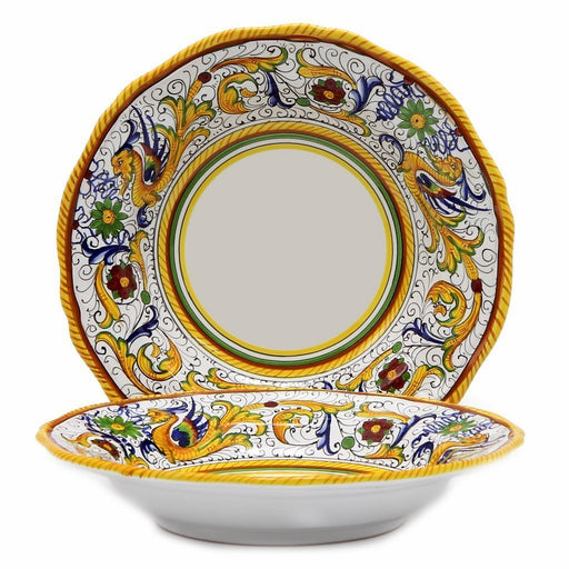 RAFFAELLESCO: Rim Pasta Soup plate - White Center