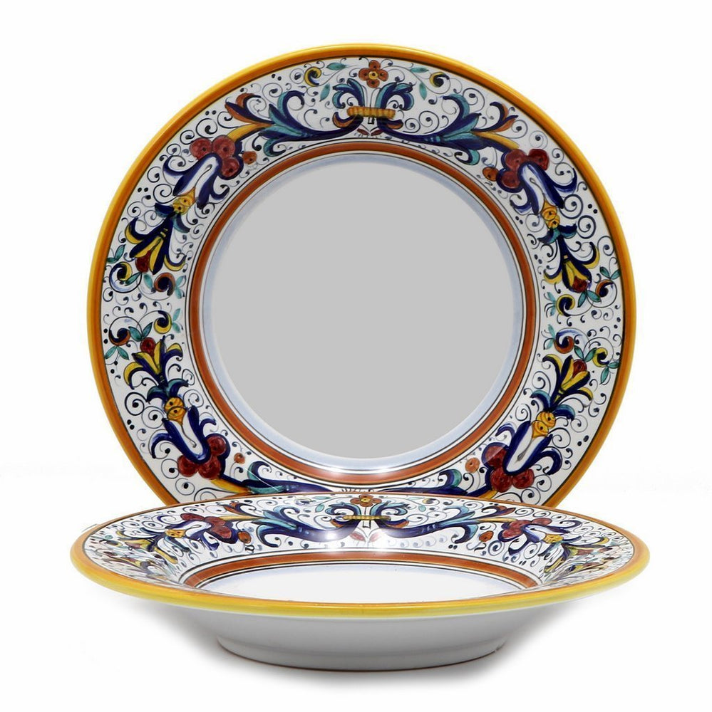 RICCO DERUTA: Rim Pasta Soup plate - White Center