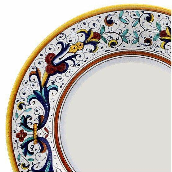 RICCO DERUTA: Salad Plate - White Center