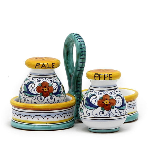 RICCO DERUTA: Salt and Pepper cruet set with caddy