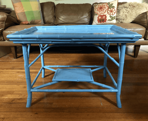Victorian bamboo table Vintage