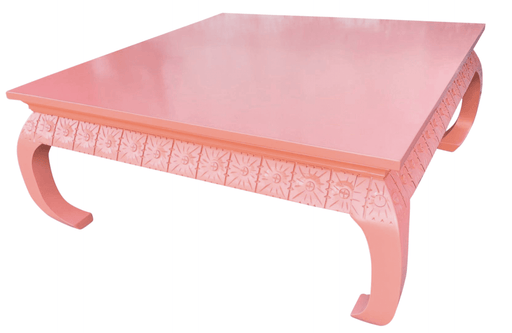 Vintage Hollywood Regency Pink Coffee Table ,1960