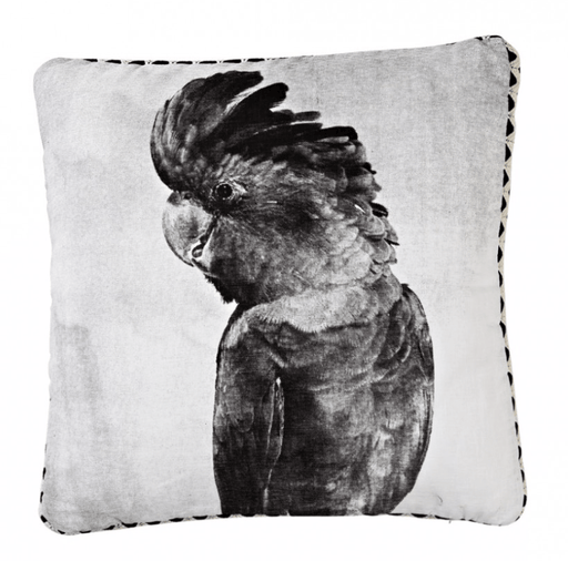 El Loro screen printed linen pillow cover