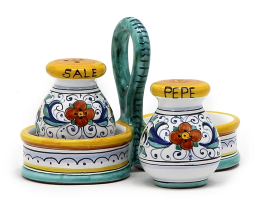 RAFFAELLESCO: Salt and Pepper cruet set with caddy