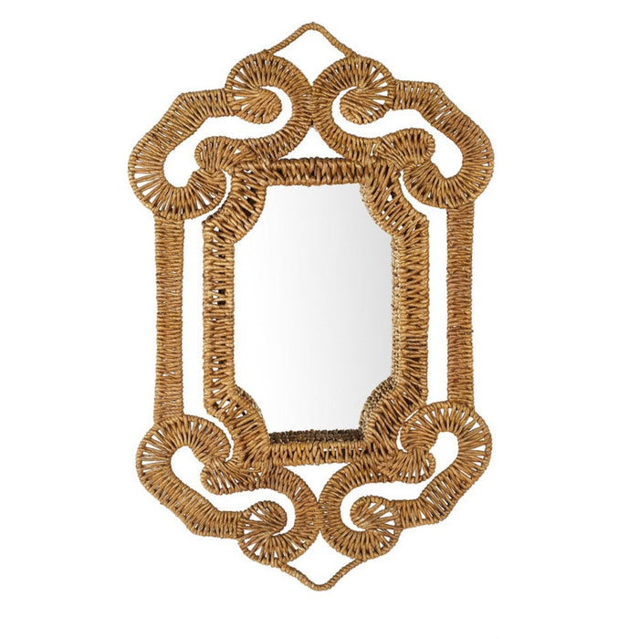 Hand Woven Banana Tree Bark Mirror
