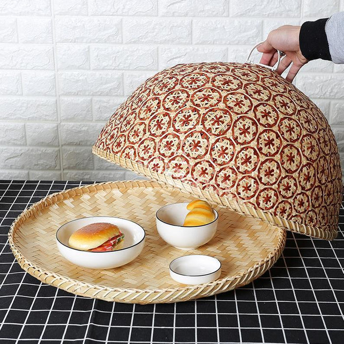 Straw food dome