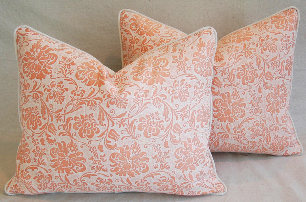 "Fortuny Cimarosa Pillows 23"" x 18"" - Pair Italian"