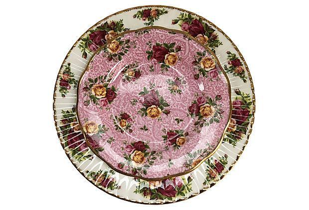 Fine Porcelain Floral mix  Place Setting - Set of 4