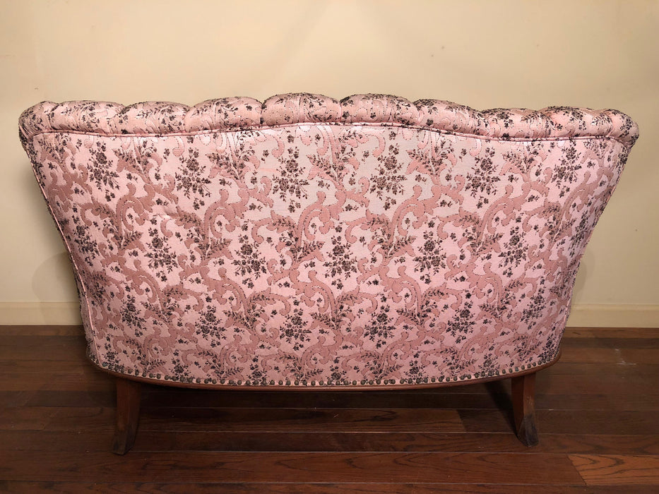 Pink tufted vintage Loveseat