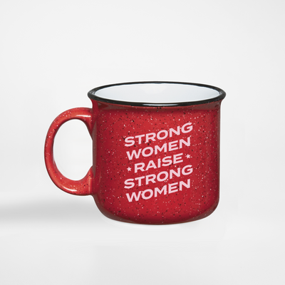 Strong Women Raise Strong Women stars camper mug