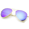 Cunningham gold mirror aviator sunglasses