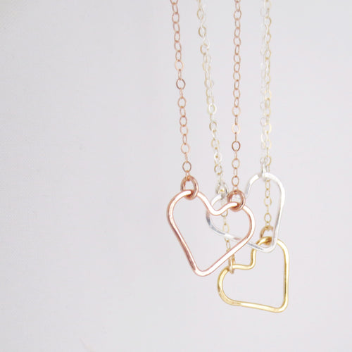 Valentina hammered heart necklace