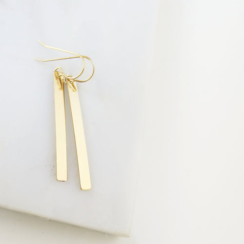 Mira bar drop earrings