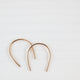 Horseshoe arc earrings