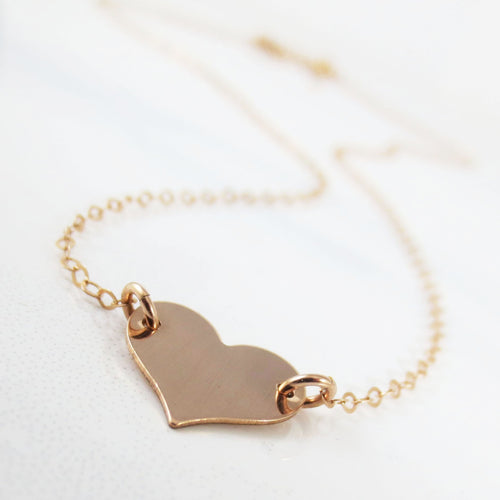 Hartley solid heart necklace