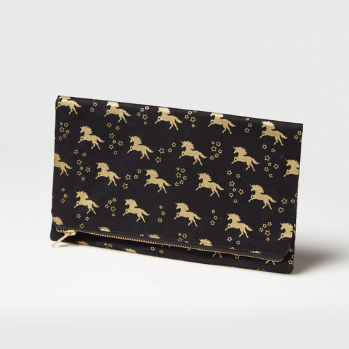 Unicorn clutch by Haute Tote