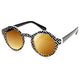 Retro Indie Hipster Fashion Round Pattern Sunglasses 8688