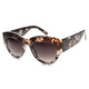 Women's Transparent Palm Tree Print Cat Eye Sunglasses 9860