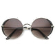 Women's Fashion Oversize Round Metal Sunglasses A001