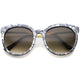 Oversized round marble cat eye sunglasses