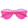 Rimless monoblock sunglasses