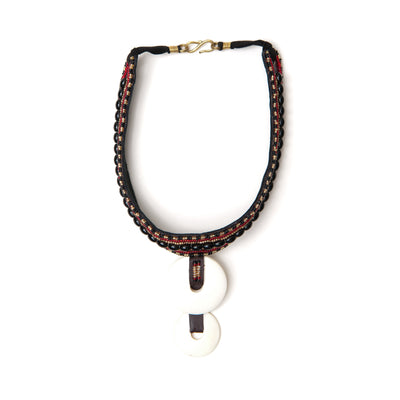 Double disc Masai choker in black