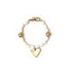 Bone and brass bracelet with heart charm