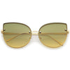 Gradient rimless cat eye sunglasses