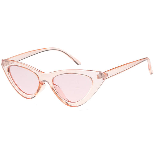 Retro 1990's narrow lens cat eye sunglasses