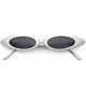Retro 1990's ultra thin oval cat eye sunglasses