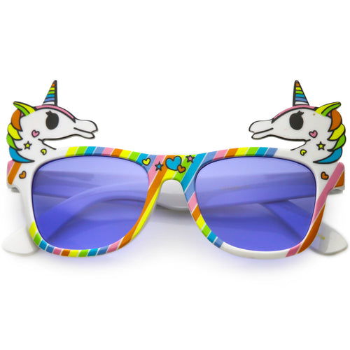 Novelty Colorful Rainbow Unicorn Sunglasses C714