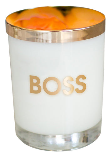 Boss Candle - Gold Foil Rocks Glass
