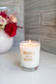 Bestie for the Restie Candle - Gold Foil Rocks Glass