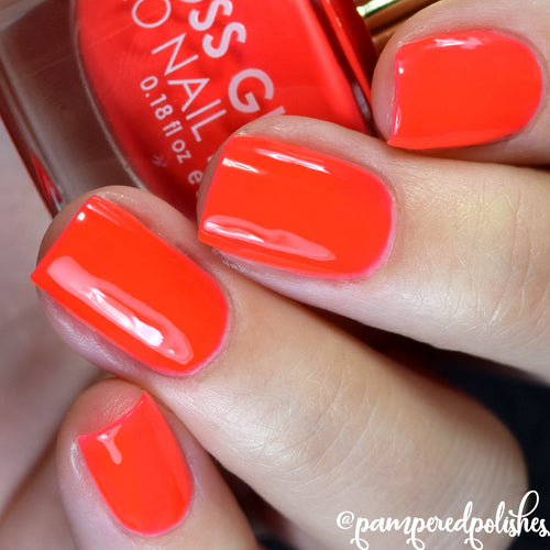 Cherry Ice neon nail polish