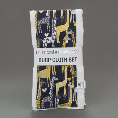 Giraffe Love burp cloth set