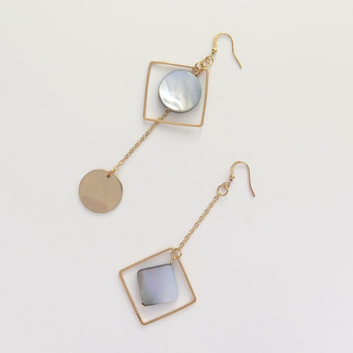 Head to Toe asymmetric drop earrings