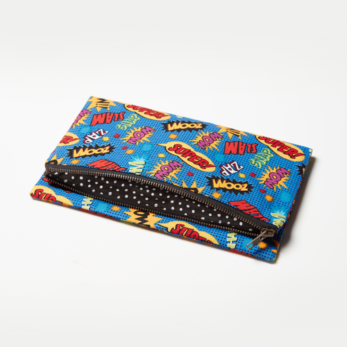 Superhero clutch by Haute Tote