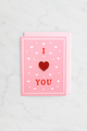 """I Heart You Enamel"" pin card"